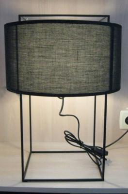Настольная лампа текстиль черный Archie
