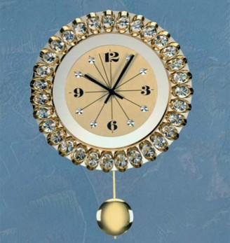 Хрустальные часы с маятником Preciosa 99 008 21