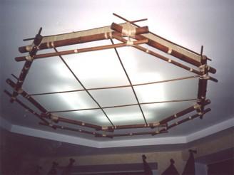 Потолочный светильник бамбук Шестигранник