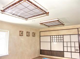 Потолочный светильник бамбук Окно большое