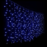 Гірлянда DELUX CURTAIN DIGITAL C 240LED 2x2m, синий/прозрачный 10090097