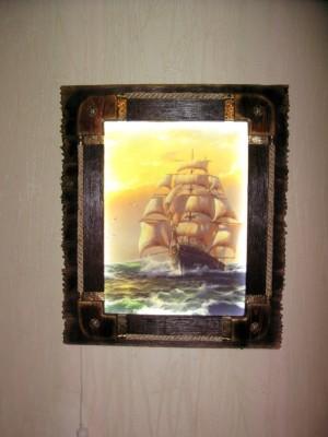 Картина бамбук морская тематика