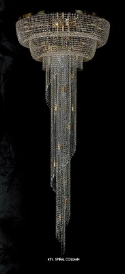 Люстра хрустальная Artglass SPIRAL COLUMN 1000x2500 CE