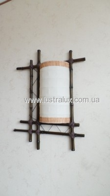 Бра бамбук Щит с обвязкой