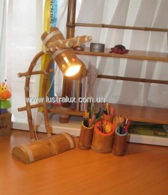 Настольная лампа бамбук Рефлектор дуга