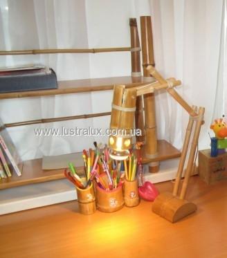 Настольная лампа бамбук Рефлектор