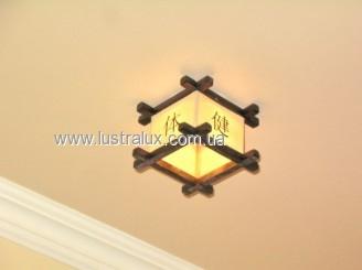 Врезной очечный светильник бамбук Куб Иероглиф