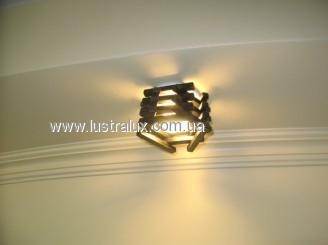 Точечный светильник бамбук Шестигранный дуб