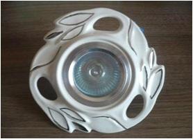 Світильник точковий галогеновий Лотос платина - 1240-05