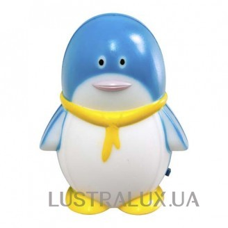 Светильник ночник Feron FN1001 пингвин синий 23221