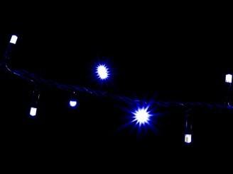 LED гирлянда для улицы линейная STRING DELUX 200 светодиодов 10м синий
