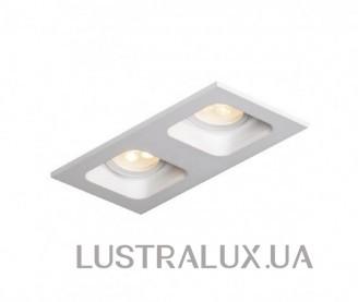Встраиваемый точечный светильник Mistic DOUBLE miniQUAD MR16 матовый белый