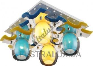 Припотолочная люстра Altalusse INL-9319C-04 White Yellow, Blue