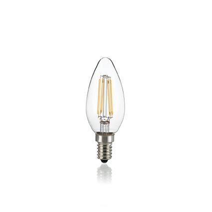 Светодиодная лампа Ideal Lux LED CLASSIC E14 4W OLIVA TRASPARENTE 4000K (153933)