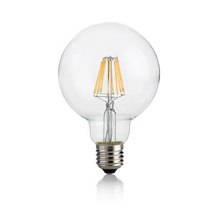 Светодиодная лампа Ideal Lux LED CLASSIC E27 8W GLOBO D95 TRASPARENTE 4000K (153971)