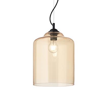 Подвесной светильник Ideal Lux BISTRO SP1 SQUARE AMBRA (163789)