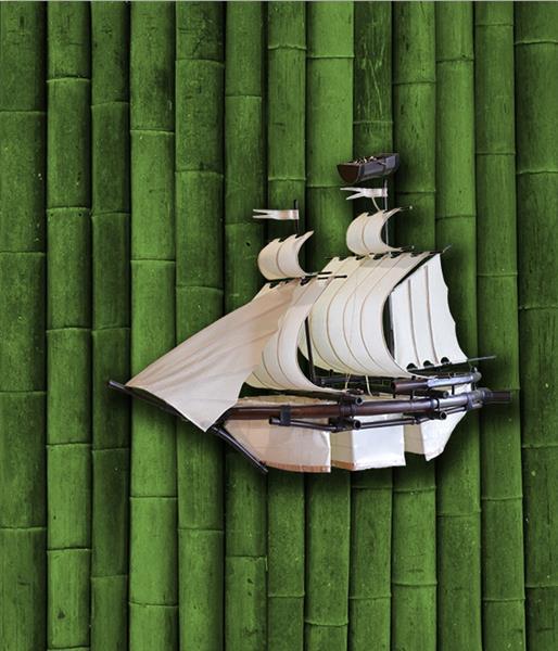 Люстра корабль бамбук