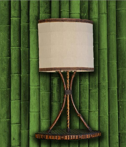 Настольная лампа бамбук Маячок