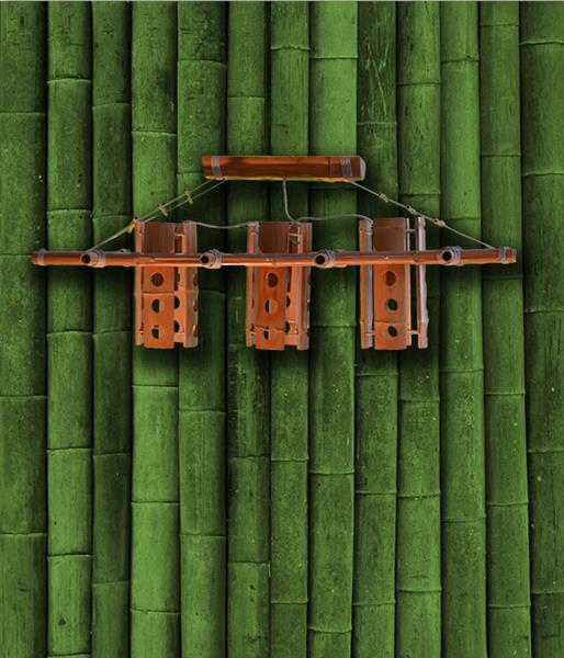 Люстра бамбук Рефлектор большой 3
