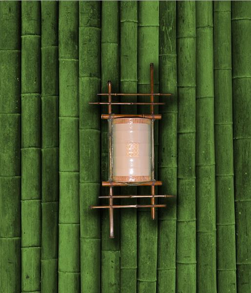 Бра бамбук Щит малый Каскад
