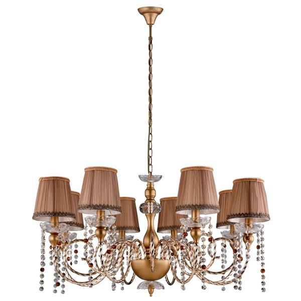 Люстра Crystal Lux ALEGRIA SP8 GOLD-BROWN ALEGRIA