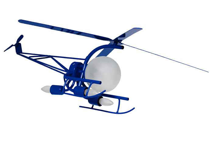 Люстра кованая Вертолет 4 лампы