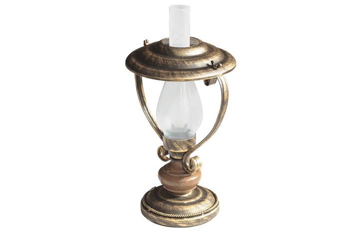Настольная лампа кованая Керосинки настольная 1