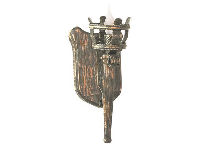 Бра деревянное Факела Римские 1 лампа