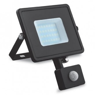 Светодиодный прожектор LL-907 30W 6400K 1800Lm с датчиком движения 6000