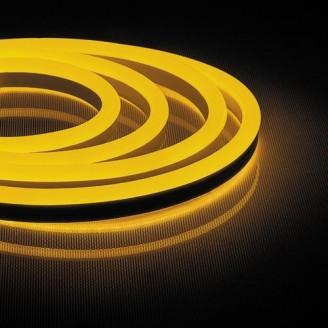 Неоновая светодиодная лента LS720 120SMD(2835)/м 9,6W/м 220V желтый IP65 6045