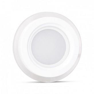 Светодиодный врезной светильник 6244 AL2110 12W 5000K круглый белый IP20