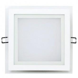 Светодиодный врезной светильник 6246 AL2111 12W 5000K квадратный белый IP20