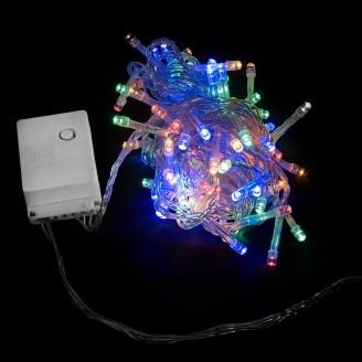 Гирлянда внутренняя DELUX STRING С 100LED 5m мульти/прозрачный IP20