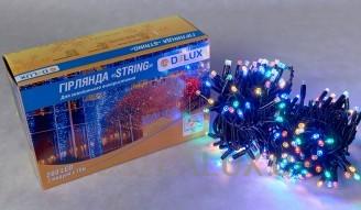 Гирлянда внешняя DELUX STRING 200 LED нить 20m (2x10m) 40 flash мульти/черный IP44