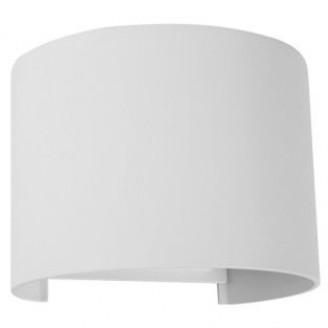Светодиодный настенный архитектурный светильник DH013 6W 3000K IP54 белый круглый 6162