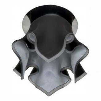 Точечный врезной светильник CD2213 JCD9 G9 40W цветок черный хром 3291