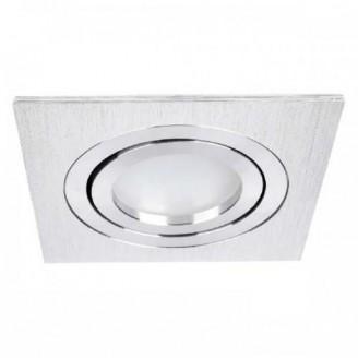Точечный врезной светильник DL6120 MR16 GU5.3 50w квадрат серебро 6346