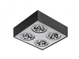 Потолочный светильник Azzardo Paulo 4 230V LED 16W (GM4400 BK/ALU 230V LED 16W)