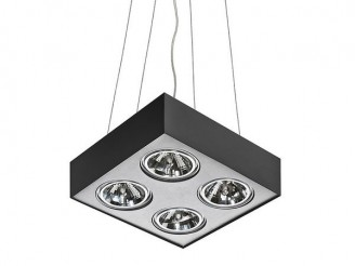 Подвесной светильник Azzardo Paulo 4 Pendant (GM5400-230V BK/ALU LED 7W WITH DIM)