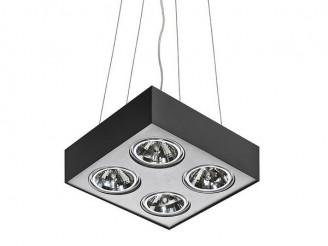 Подвесной светильник Azzardo Paulo 4 Pendant (GM5400-230V BK/ALU LED 7W WITH DIM)
