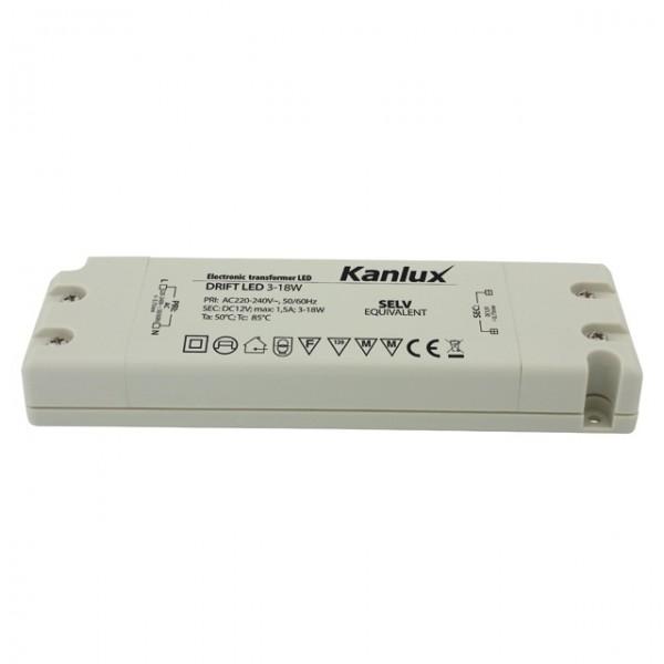 Электронный питатель Kanlux LED DRIFT LED 3-18W-8550