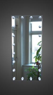 Зеркало макияжное с лампочками