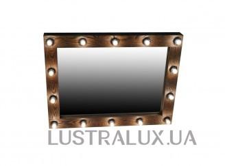 Зеркало гримерное в деревянной раме (без лампочек)